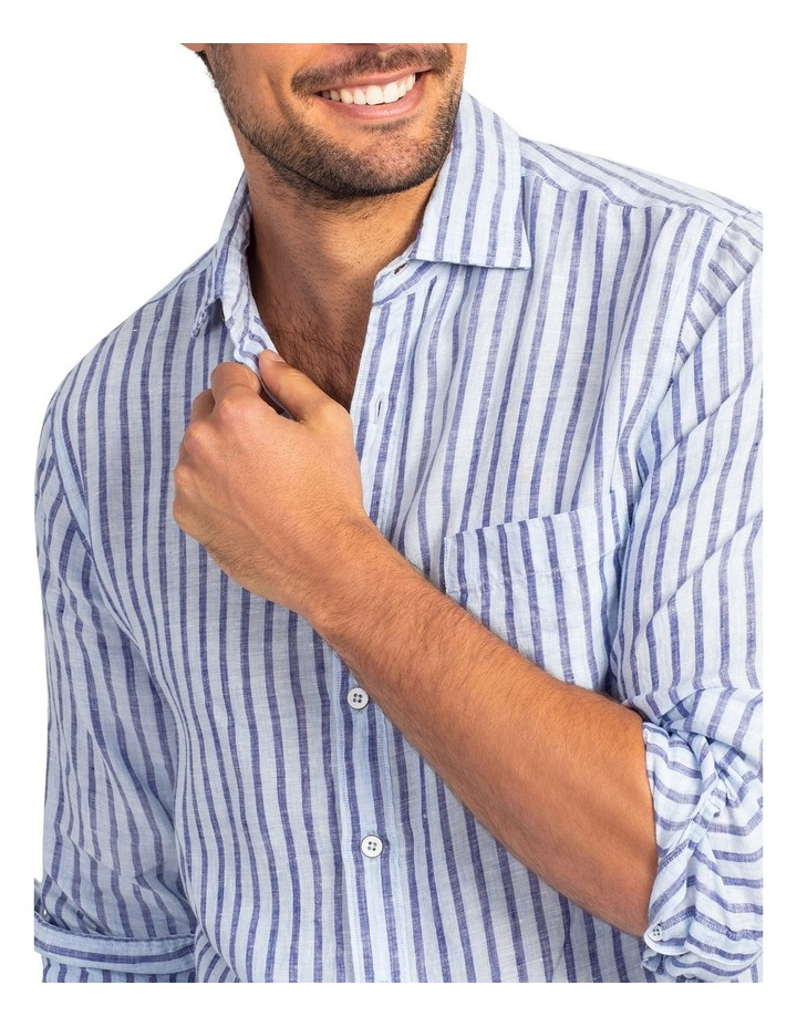 Hillgrove Downs Long Sleeve Sports Fit Shirt - Atlantic image 5