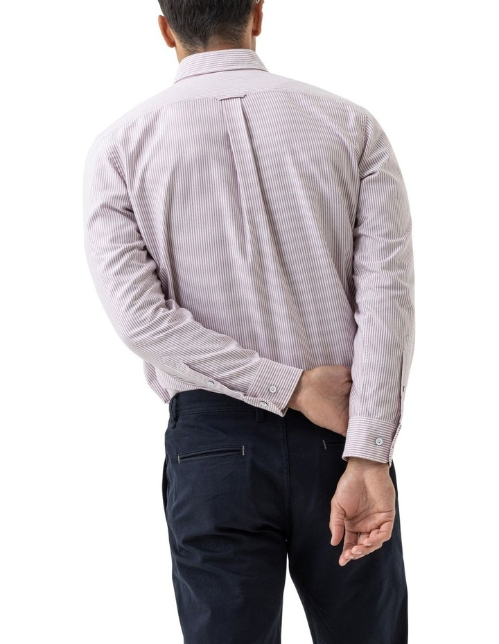 South Island Oxford Long Sleeve Sports Fit Shirt - Port image 3