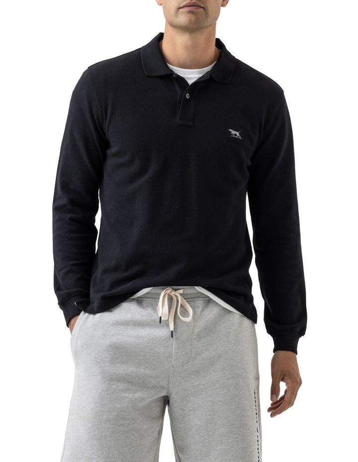 Long Sleeve Gunn Polo - Onyx image 1
