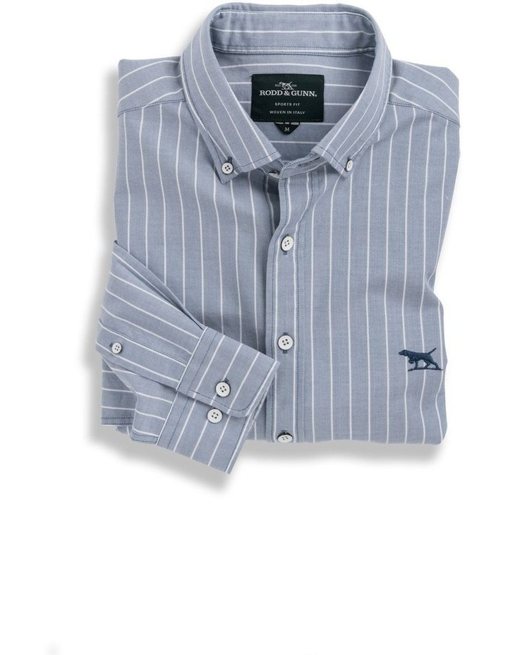 Oxford Stripe 3 Long Sleeve Sports Fit Shirt - Arctic image 4