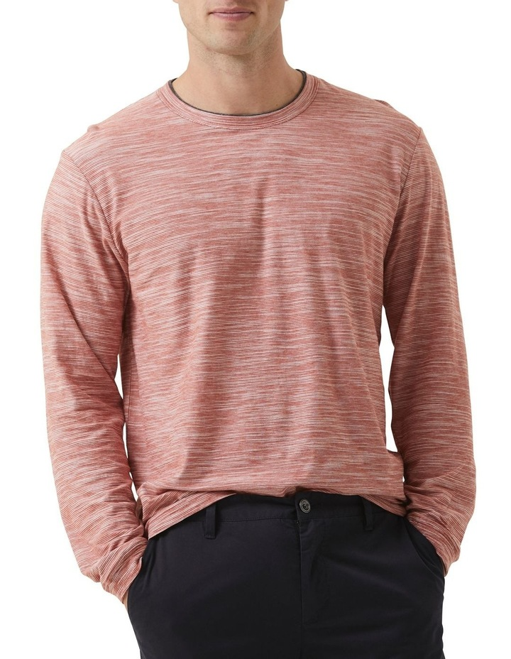 Long Sleeve Claremont T-shirt - Rust image 1