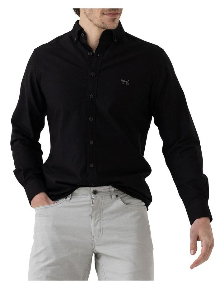 Gunn Oxford Long Sleeve Sports Fit Shirt - Onyx image 1