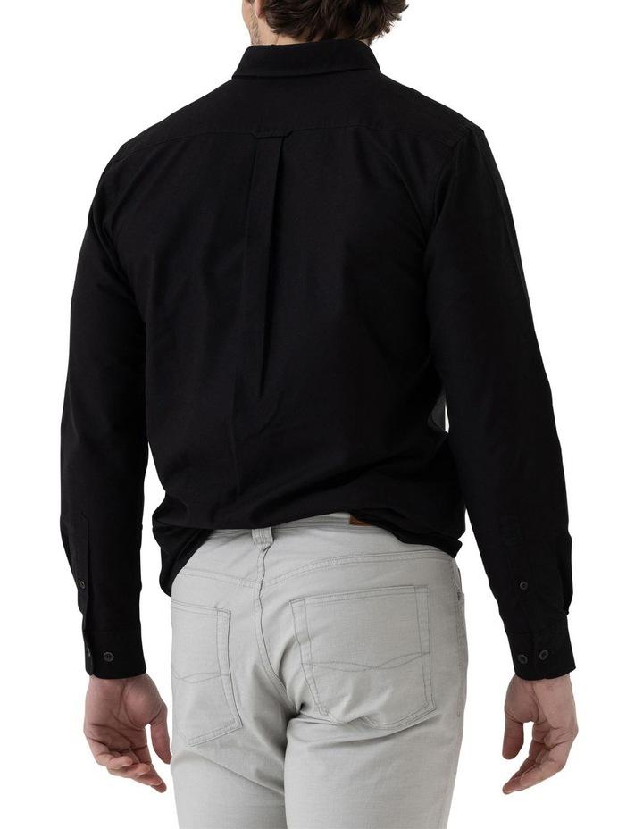 Gunn Oxford Long Sleeve Sports Fit Shirt - Onyx image 3