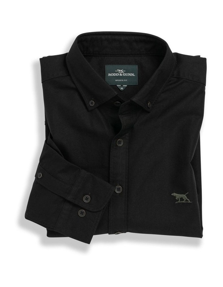 Gunn Oxford Long Sleeve Sports Fit Shirt - Onyx image 4