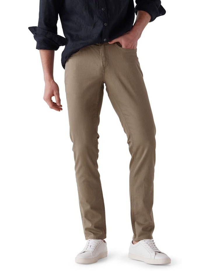 Whitlaker Straight Fit Jean Short Leg - Army image 1