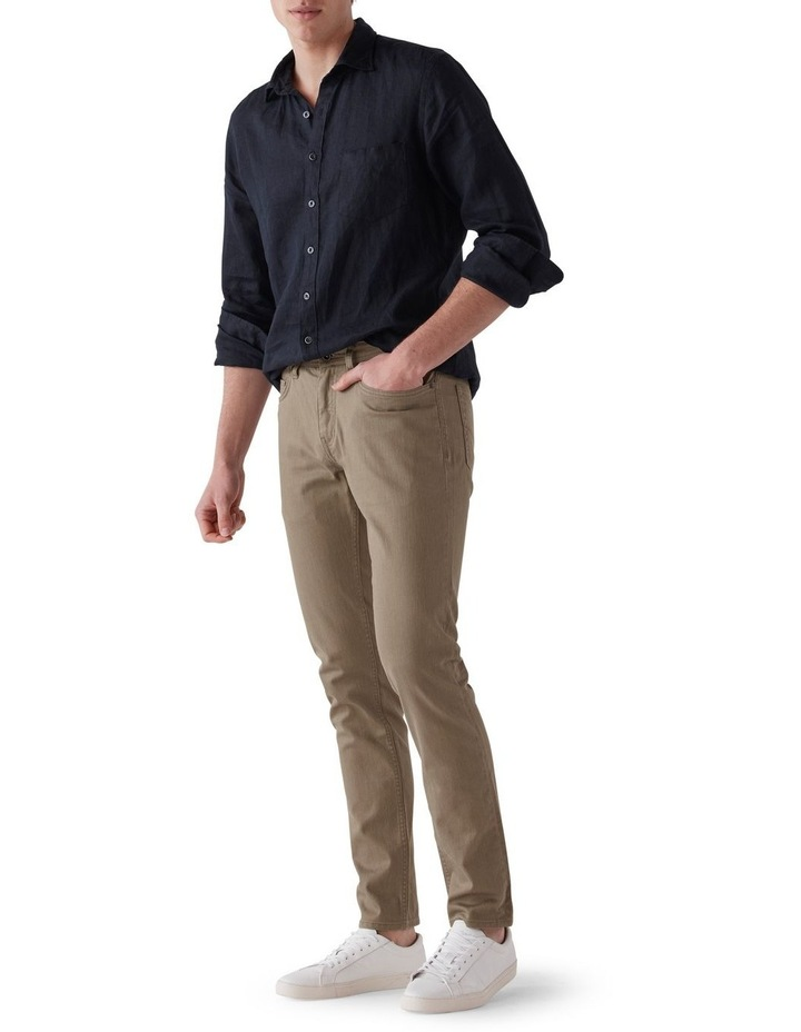 Whitlaker Straight Fit Jean Short Leg - Army image 2