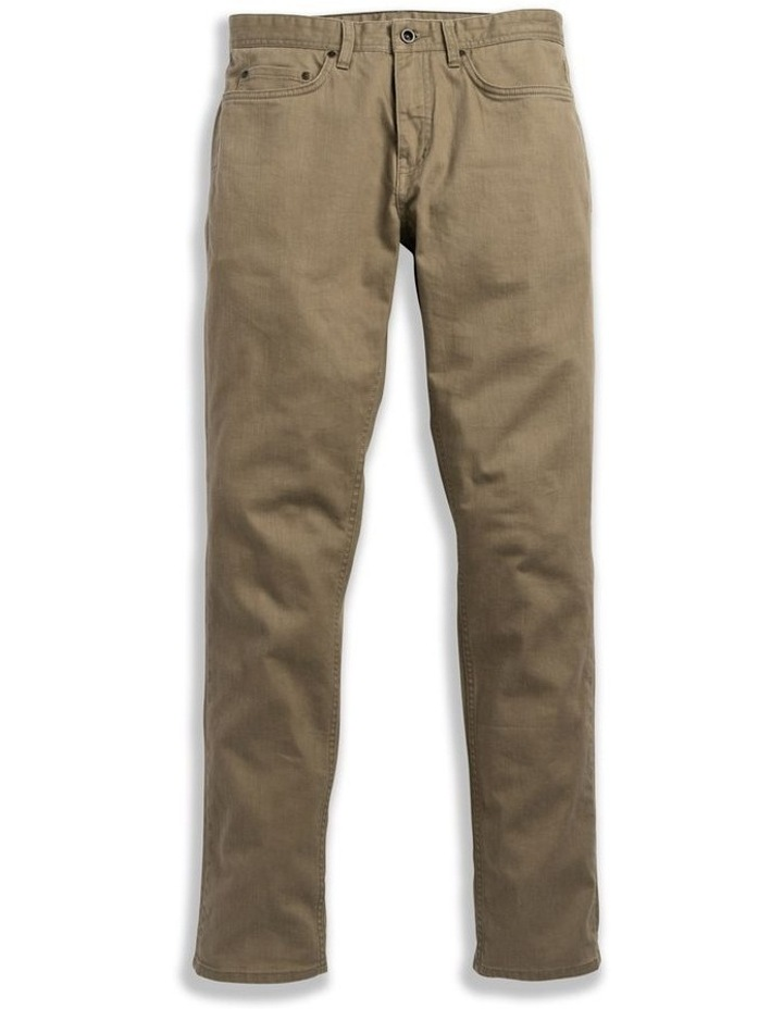 Whitlaker Straight Fit Jean Short Leg - Army image 4