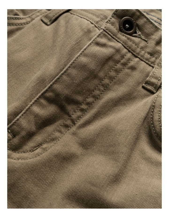 Whitlaker Straight Fit Jean Short Leg - Army image 5