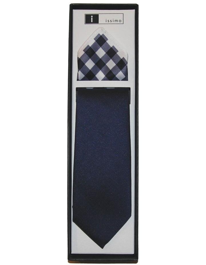 Navy Tie And Hank Set image 1
