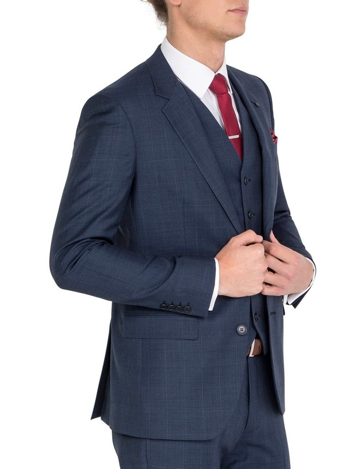 Unique Soft Blue Tonal Check Jacket - Regular image 3