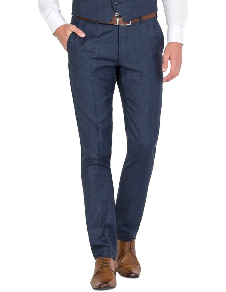 Blue Flat Front Trouser image 1