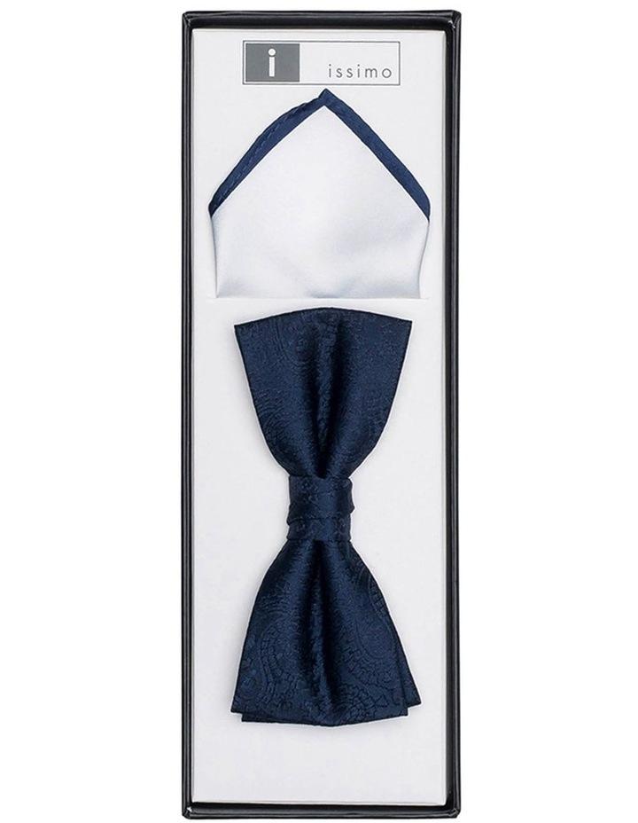 Navy & White Bow Tie Set image 1
