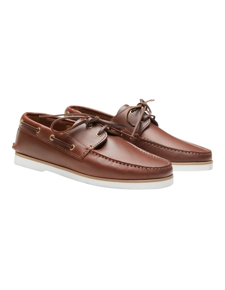 Port Pull Up Cow Boat Shoes image 3