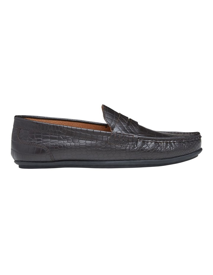 Vector Embossed Leather Loafers image 1