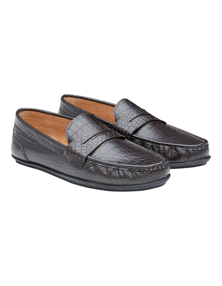 Vector Embossed Leather Loafers image 3