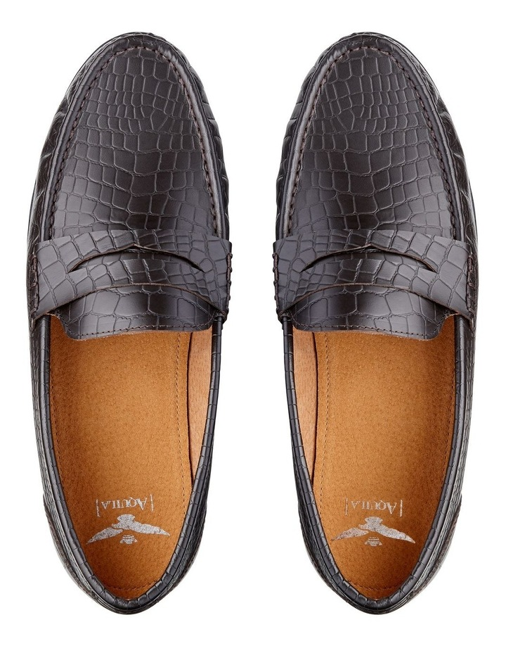 Vector Embossed Leather Loafers image 4