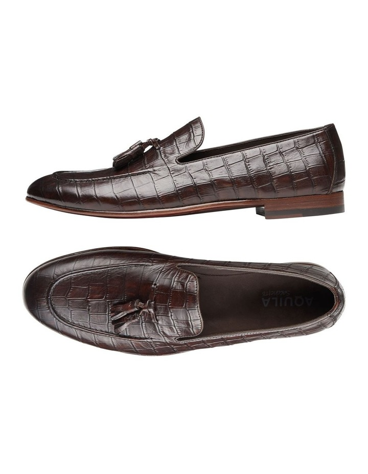 Alberto Brown Croc Print Leather Loafers image 2