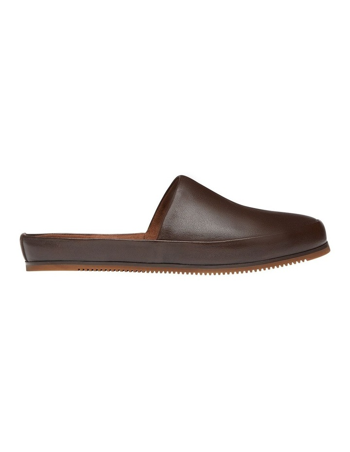Edmonton Brown Leather Slippers image 1