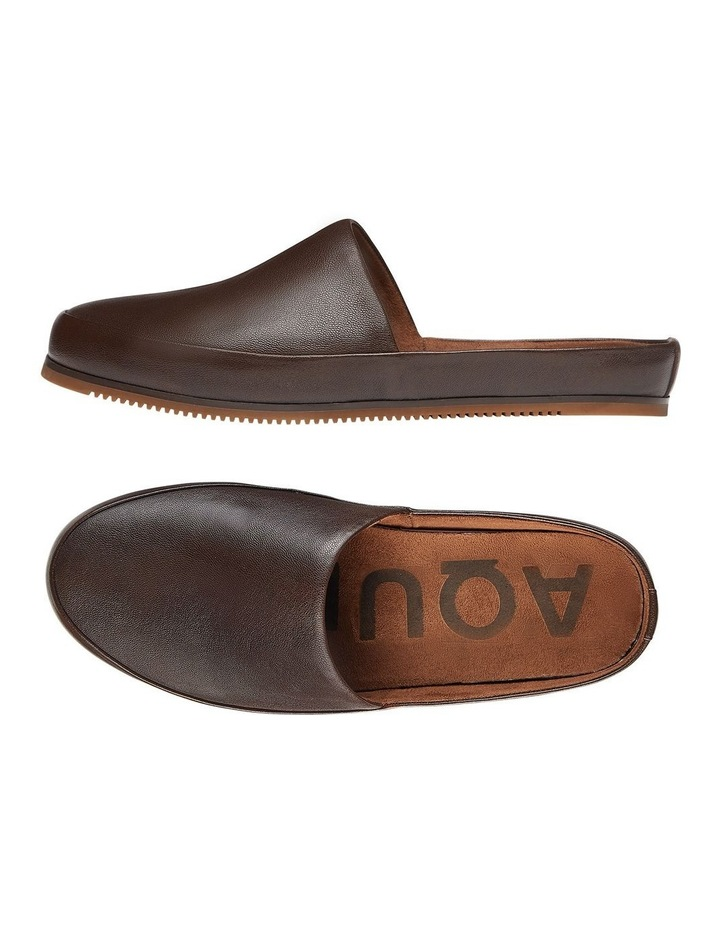 Edmonton Brown Leather Slippers image 2