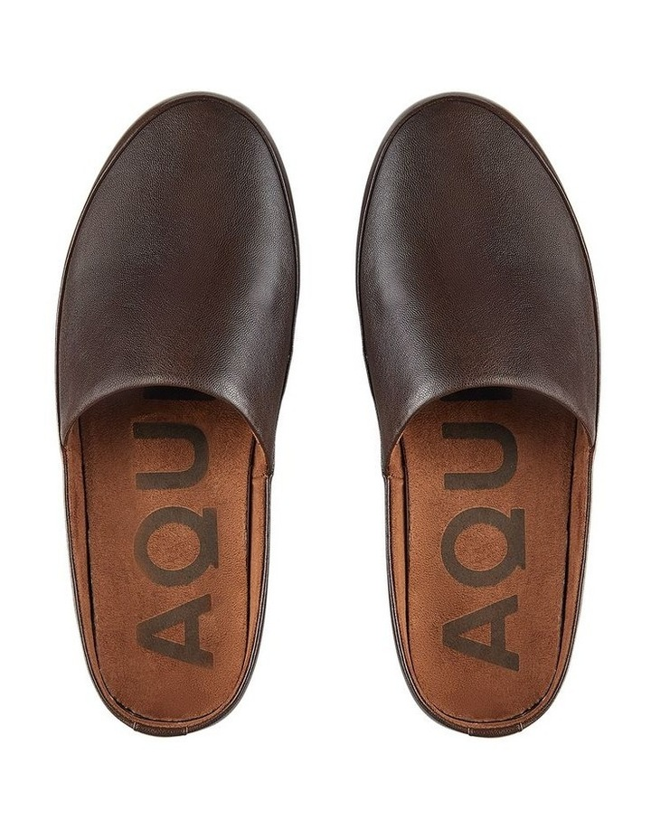 Edmonton Brown Leather Slippers image 3