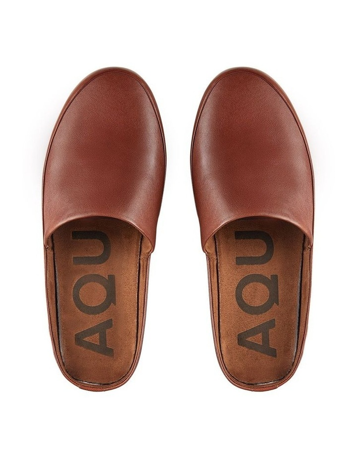 Edmonton Tan Leather Slippers image 3
