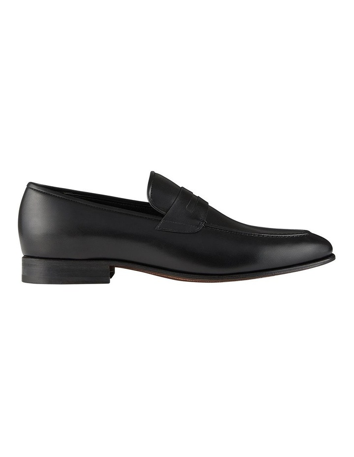 Hadden Black Leather Penny Loafers image 1