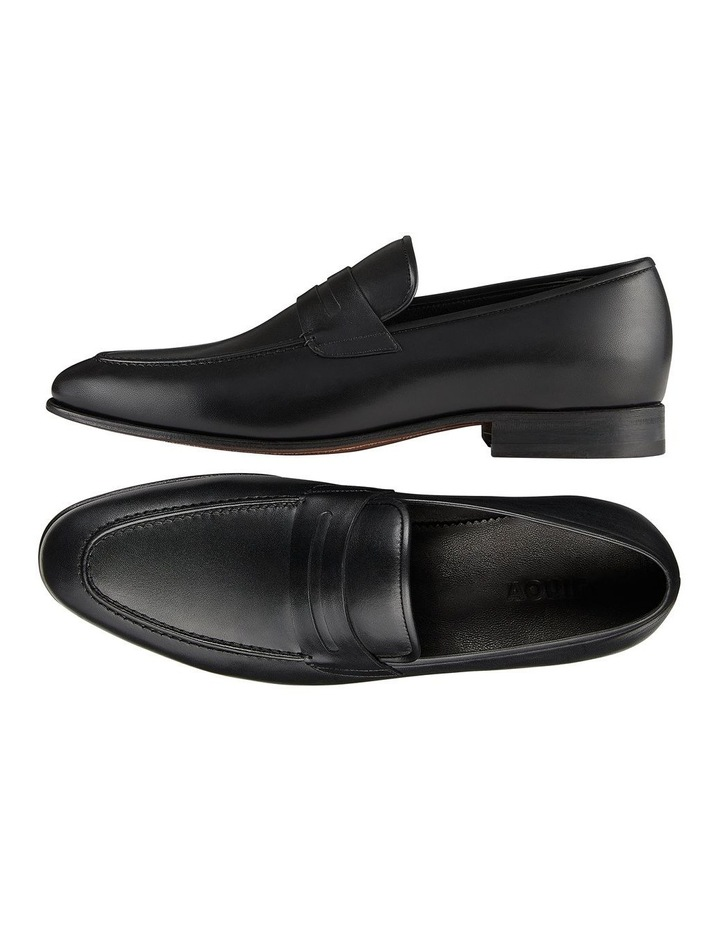 Hadden Black Leather Penny Loafers image 2