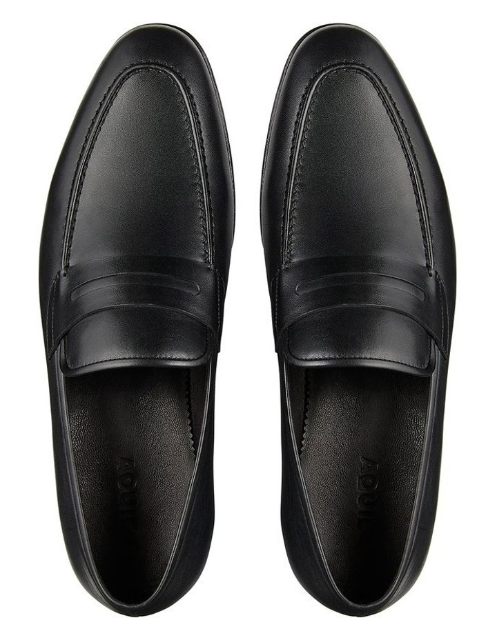 Hadden Black Leather Penny Loafers image 3