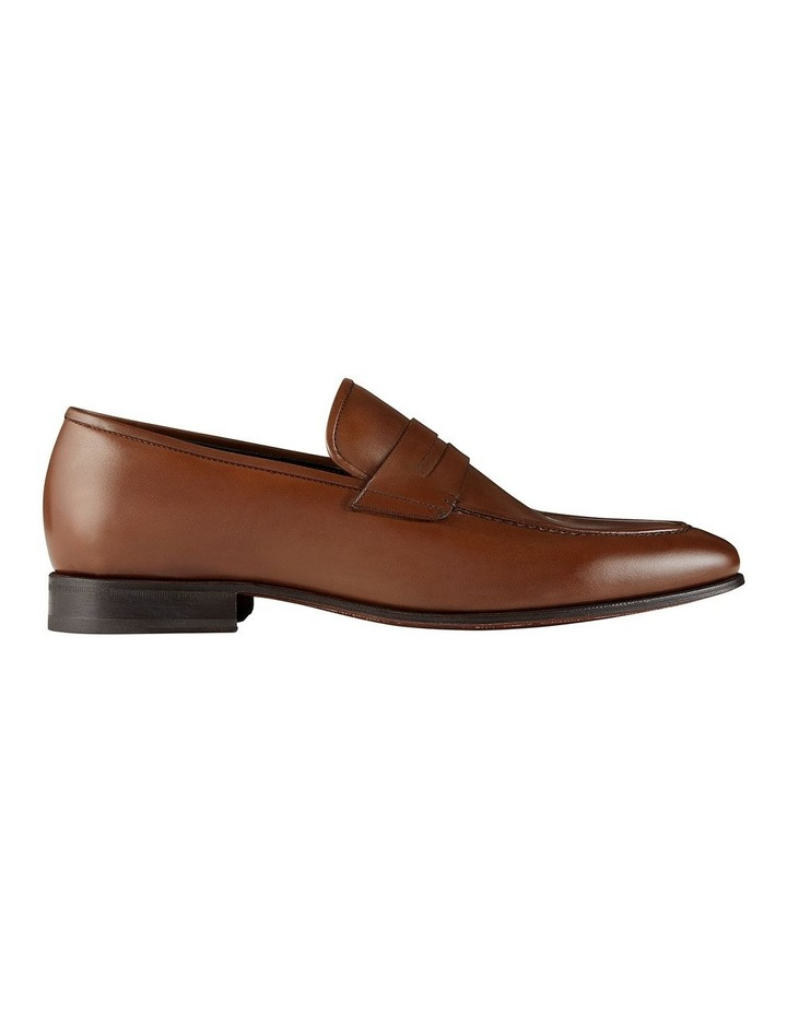 Hadden Brown Leather Penny Loafers image 1
