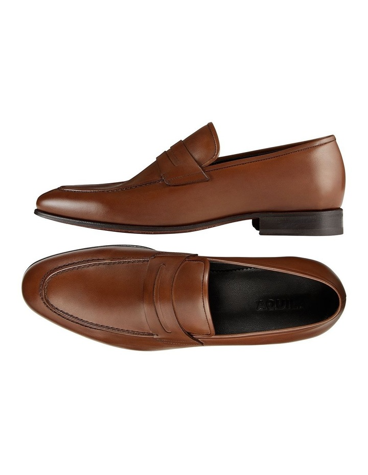 Hadden Brown Leather Penny Loafers image 2