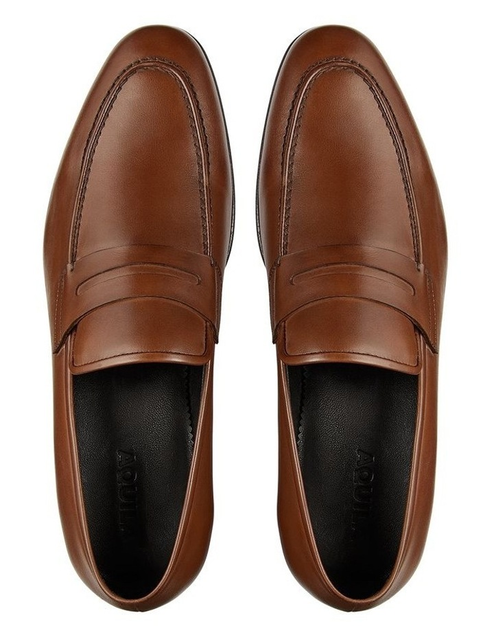 Hadden Brown Leather Penny Loafers image 3
