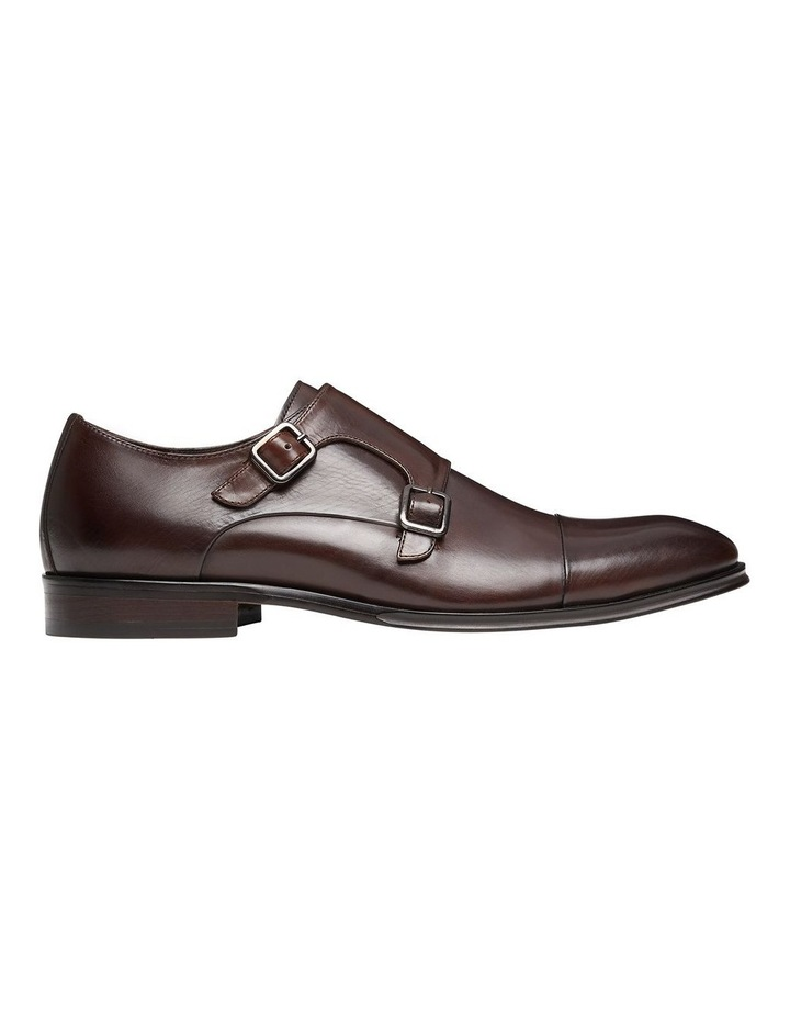Brennin Brown Leather Monk Strap Shoes image 1