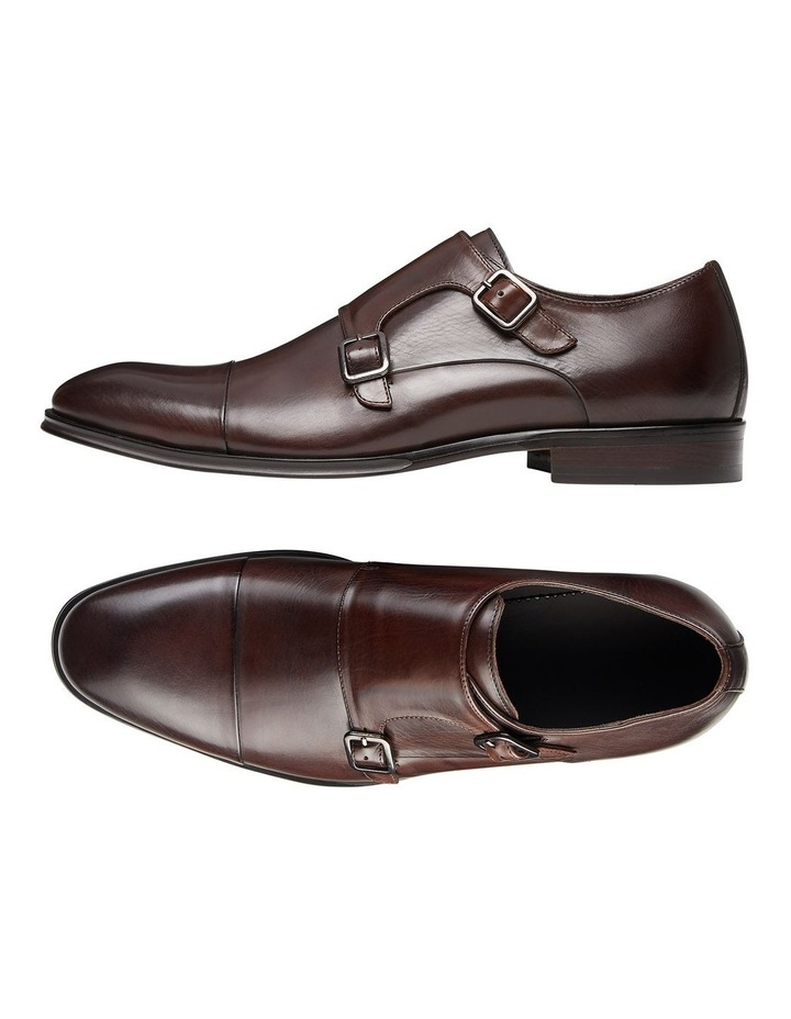 Brennin Brown Leather Monk Strap Shoes image 2