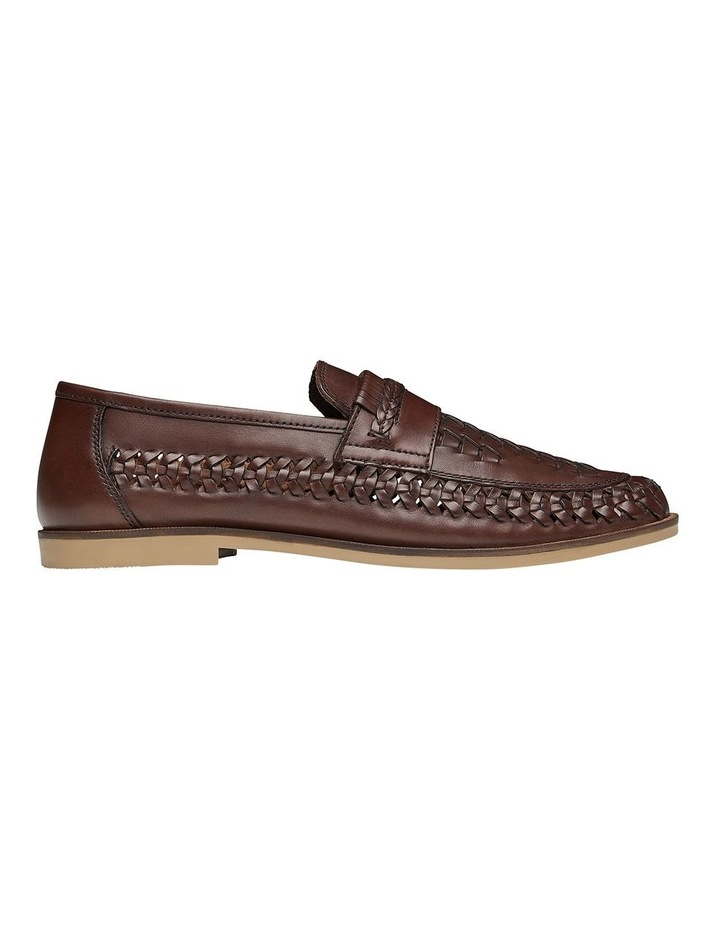 Trey Brown Leather Slip On Shoes image 1
