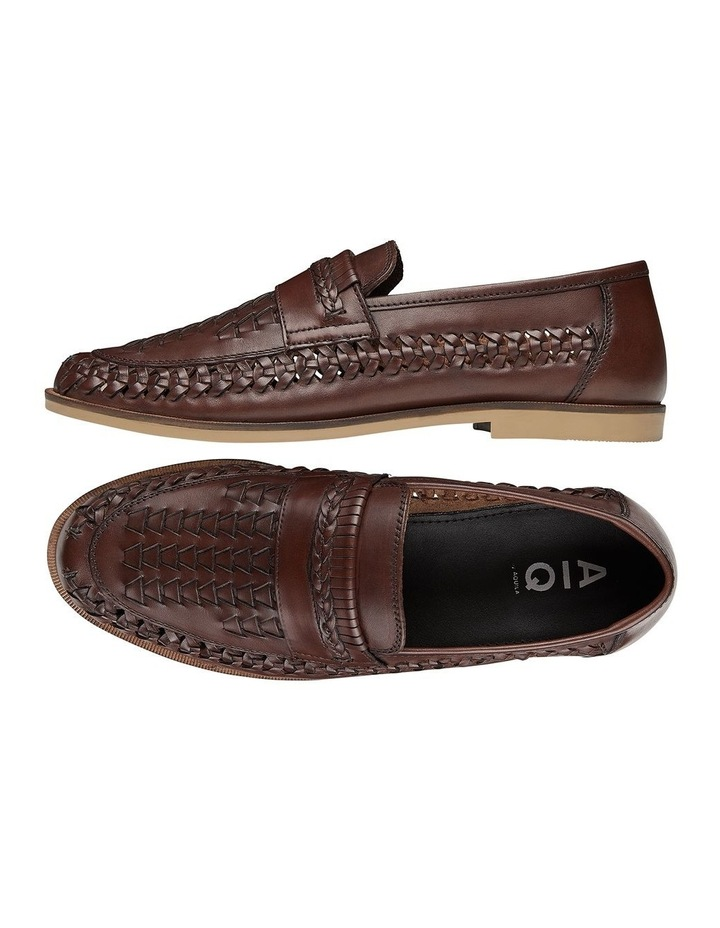 Trey Brown Leather Slip On Shoes image 2