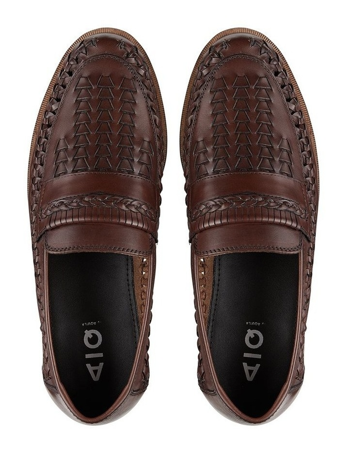 Trey Brown Leather Slip On Shoes image 3