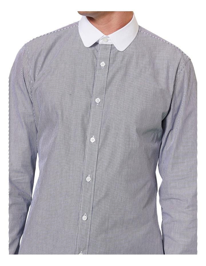 Curved Collar LS Shirt image 4