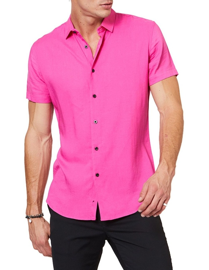 Short Sleeve Pink Mod Shirt image 1