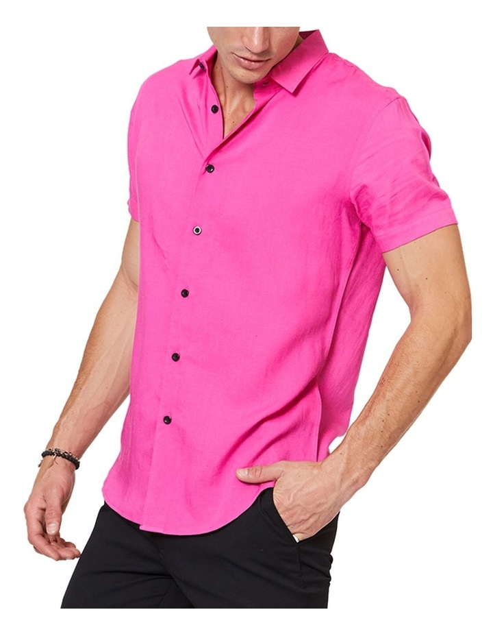 Short Sleeve Pink Mod Shirt image 2