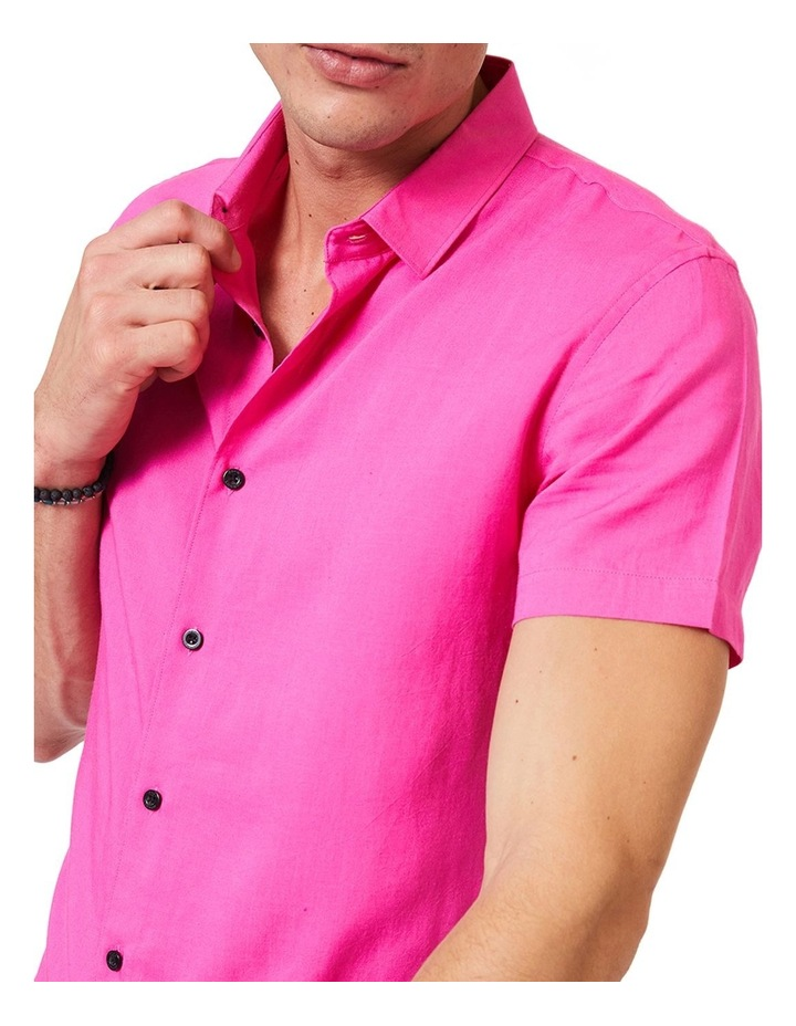 Short Sleeve Pink Mod Shirt image 4