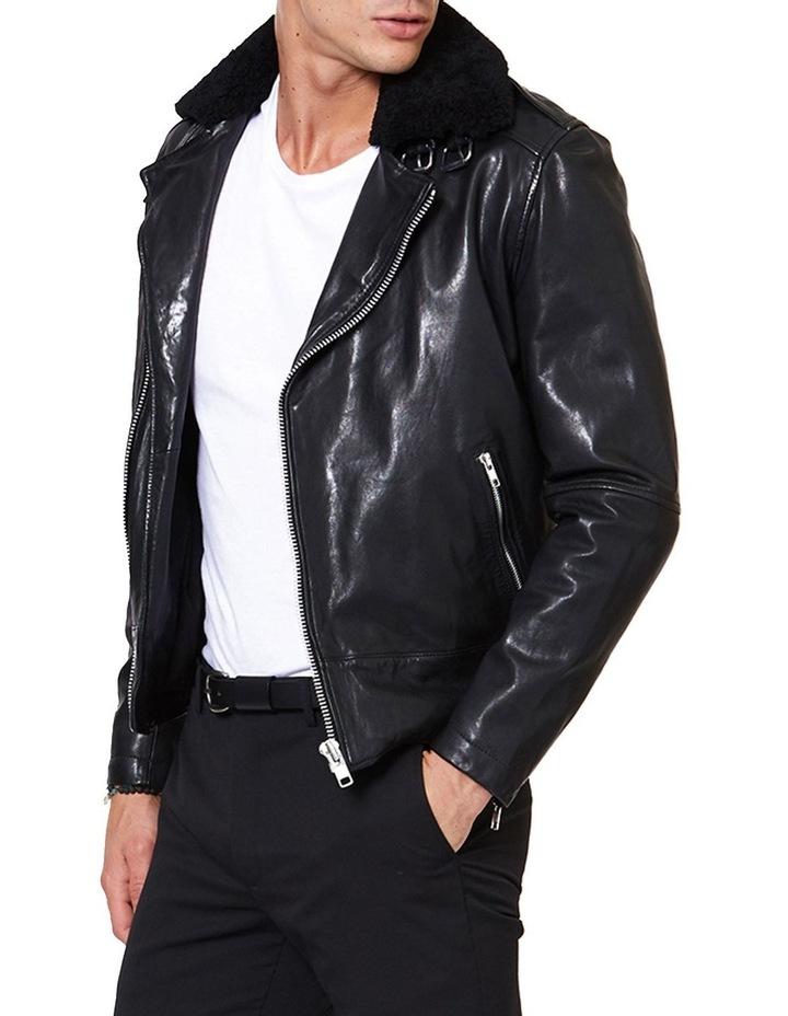 Aviator Leather Jacket image 2