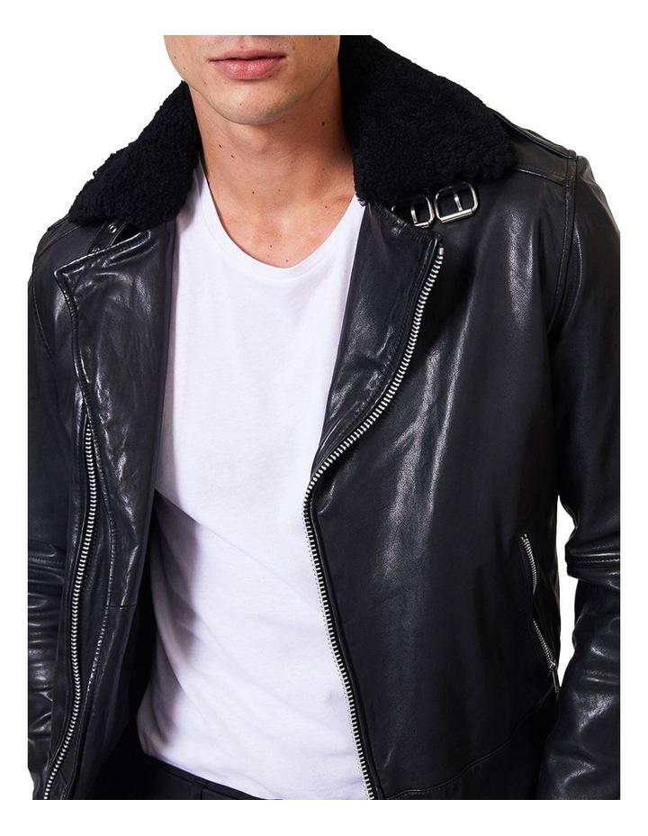 Aviator Leather Jacket image 4