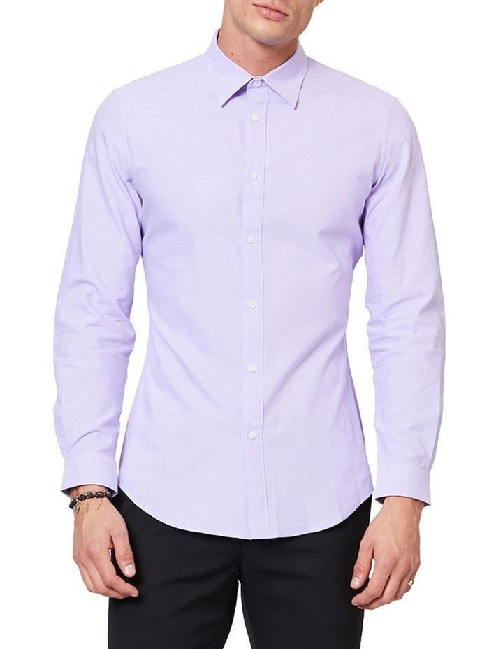 Lilac Button Down Ls Shirt image 1
