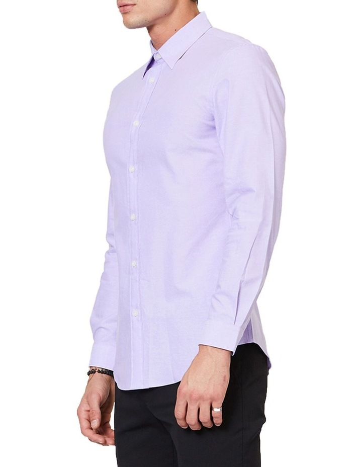 Lilac Button Down Ls Shirt image 2