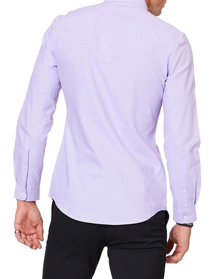 Lilac Button Down Ls Shirt image 3