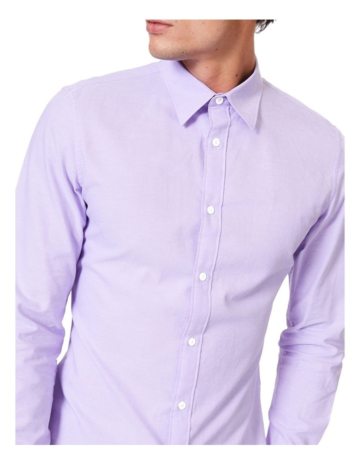 Lilac Button Down Ls Shirt image 4