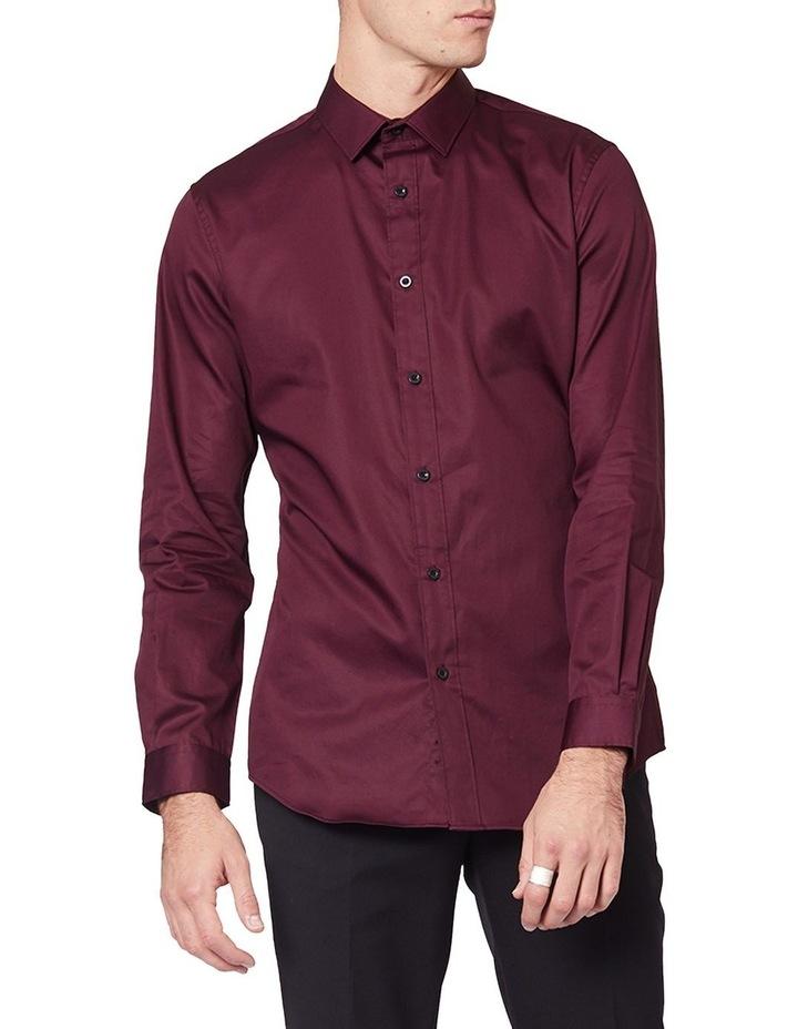Burgundy Mod Long Sleeve Shirt image 1