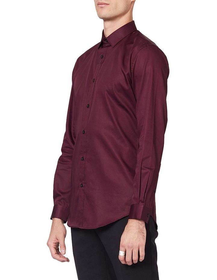 Burgundy Mod Long Sleeve Shirt image 2