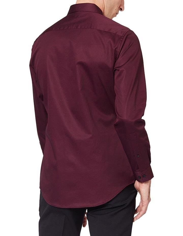 Burgundy Mod Long Sleeve Shirt image 3