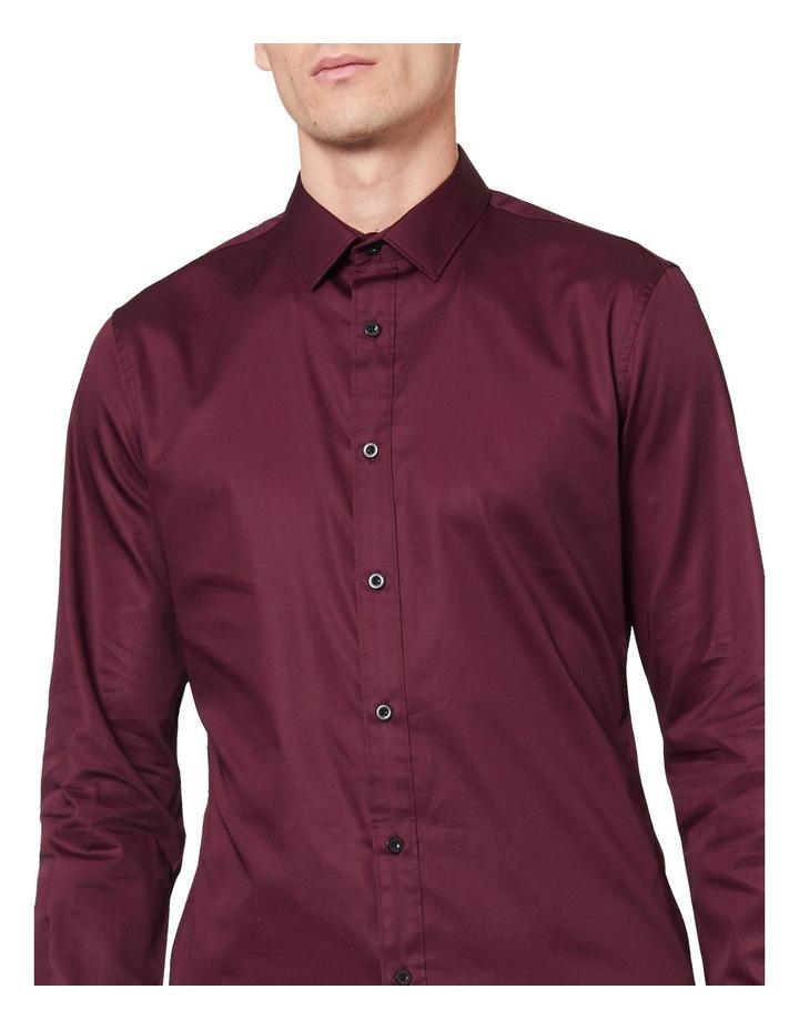 Burgundy Mod Long Sleeve Shirt image 4